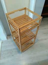 bambus rollwagen küchenwagen oder badezimmer rollwagen