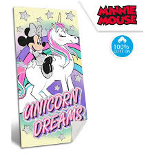 Toalla Playa Disney Minnie Unicornio Algodón 100