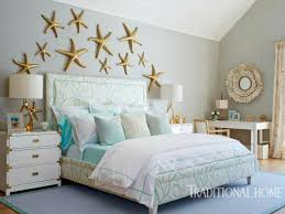 Sea Life Sculptures Above Bed