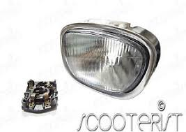 Image Is Loading Vintage Vespa Head Light Lamp Plug Front Square