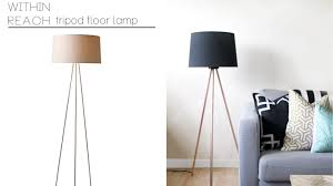 Surveyor Floor Lamp Tripod by Lamps Contemporary Floor Lamps Montreal Wonderful Gold Tripod