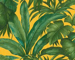 vliestapete blätter grün gelb versace 96240 3