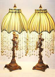 Tiffany Style Lamps Vintage by Vintage Tiffany Style Lamp Floral Motif Deep Cobalt Blue Around