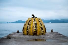 Yayoi Kusama Pumpkin by Yellow Pumpkin Yayoi Kusama Naoshima Japan