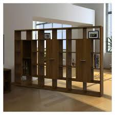 Cool Artistic Room Divider Feature Wood Cabinet In Laminated Together Modern Style With Shelf