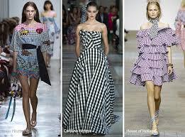 Spring Summer 2017 Print Trends Gingham Patterns