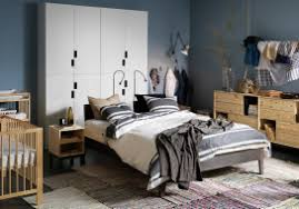 Bedroom With IKEA Bed Sidetables Chest Of Drawers All In Wood