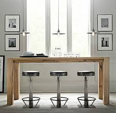 decorating small kitchen with modern bar table and modern stools