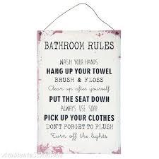blech schild bad badregeln badezimmer regeln bathroom shabby vintage landhaus antik