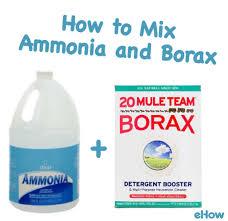 How to Mix Ammonia and Borax