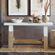 Wooden Sawhorse Console Table
