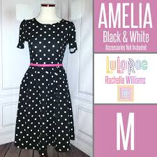 lularoe amelia dress black u0026 white polka dots get yours in my vip