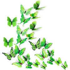 missbirdler 24 schmetterlinge grün 3d effekt kühlschrank