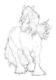 Free Horse Head Coloring Pages Realistic