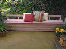 patio bench plans treenovation