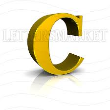 LettersMarket 3D Gold Letter C isolated on a white background
