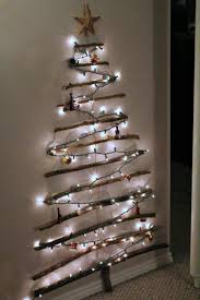 Hanging Right Christmas Tree Lights Nice Looking Wall Design With Twigs And Rope