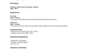 High School Resumes Examples Resume For Jobs