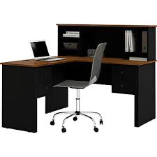 Staples Computer Desks And Chairs by Bestar Corner Computer Desk Black Tuscany Brown 45850 18 Staples