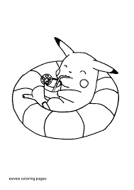 Eevee Coloring Pages Cute Baby For Colouring