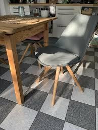 4 schöne graue esszimmerstühle skandinavischer stil
