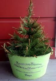 DIY Vintage Christmas Tree Planter
