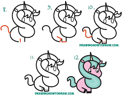 How To Draw A Unicorn Easy Drawing Cute Cartoon