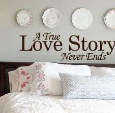 englisch liebe zitat eine wahre liebesgeschichte endet nie für hauptwanddekor aufkleber haus schlafzimmer vinylwand zitate home decor