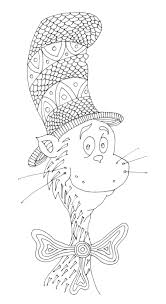 Cat In The Hat Coloring Page Free See MaPantzEtsy