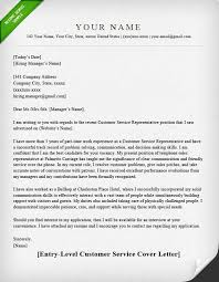 Customer Service Entry Level ELEGANT Cover Letter Template