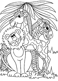 Printable Coloring Pages Jungle Animal Intended For