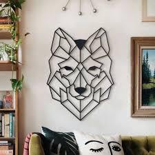hoagard metall wandbild wolf xl aus metall wanddekoration aus metall kaufen otto