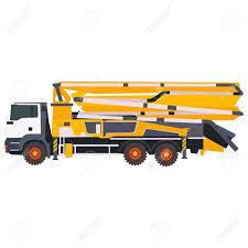 100 Concrete Pump Trucks Flat Illustration Of In Vector Format Eps10 Royalty