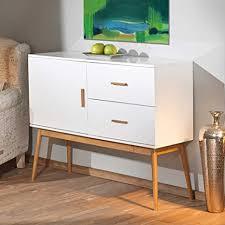 pharao24 wohnzimmer kommode in weiß bambus retro design