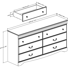 South Shore Libra Double Dresser With Door by South Shore Vintage 6 Drawer Double Dresser Multiple Finishes