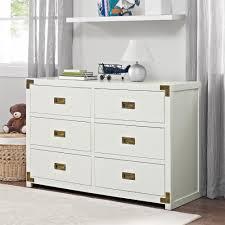 6 Drawer Dresser White by Dorel Living Monbebe Wyatt 6 Drawer Dresser Classic White
