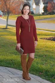 winter party otk boots shift dress dress fashion