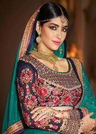 Pink Designer Wear South Indian Langa With Floral Pattern Choli N16095C