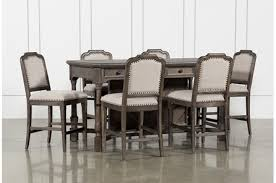 Laurent 7 Piece Counter Set With Upholstered Counterstools