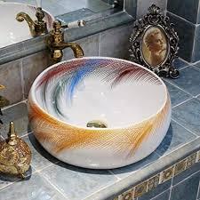 ayhuir bad aufsatzwaschbecken garderobe handbemalte