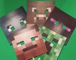 Set of 5 Minecraft Booth Props Minecraft Masks Minecraft