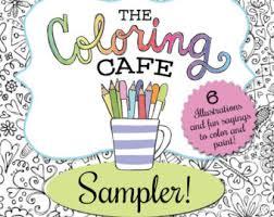The Coloring CafeTM Book For Grown Ups Sampler Instant Download