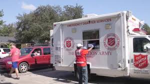 100 Salvation Army Truck Prepares For Water To Recede And Help Homeowners Back