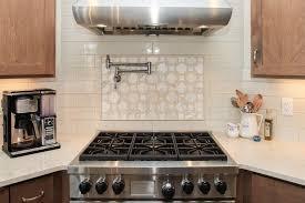Accent Tiles For Kitchen Backsplash Beige Glossy Tile Backsplash White And Beige Pattern Glossy