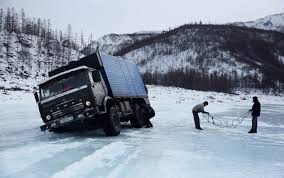 100 Ice Road Trucking Truckers In Russia Buckle Up For A Perilous Drive On A