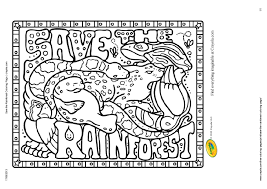 Rainforest Coloring Pages Within