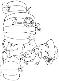 Winning Pumpkin Autumn Fall Color Page Holiday Coloring Pages Plate Sheet
