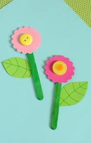 Cute As A Button Craft Stick Flower