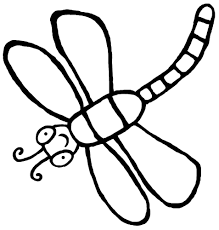 Dragonflies Coloring Pages Clipart Dragonfly Fine Pictures Simple