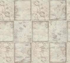 vinyltapete marmor fliesen taupe weiß metallic 34279 2